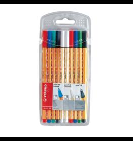 Stabilo Point 88 Pen Sets, 10-Color Wallet Set