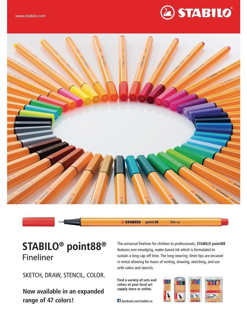 Stabilo Stabilo Point 88 Pale Vermillion