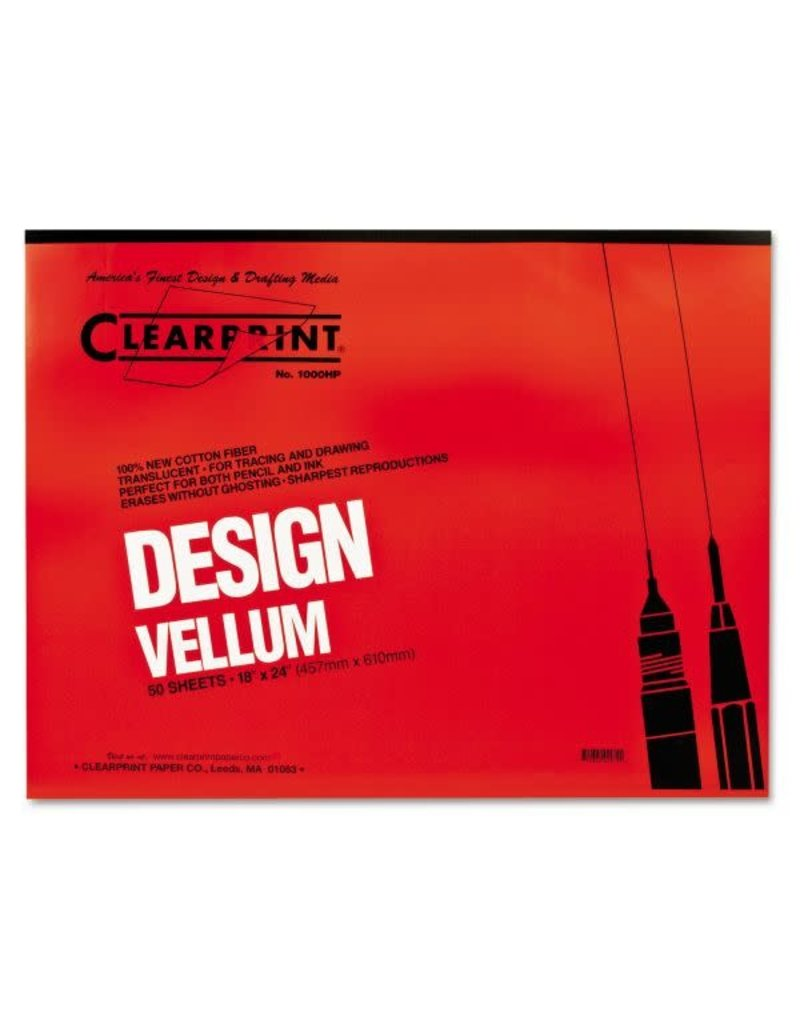Clearprint Design and Sketch Pads, Unprinted, 18'' x 24''