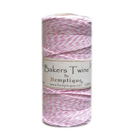 Hemptique Bakers Twine 410Ft Light Pink / White