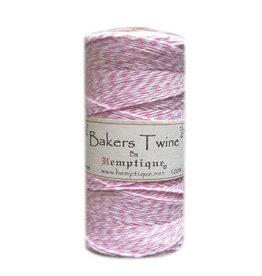 Hemptique Bakers Twine 410Ft Light Pink / White