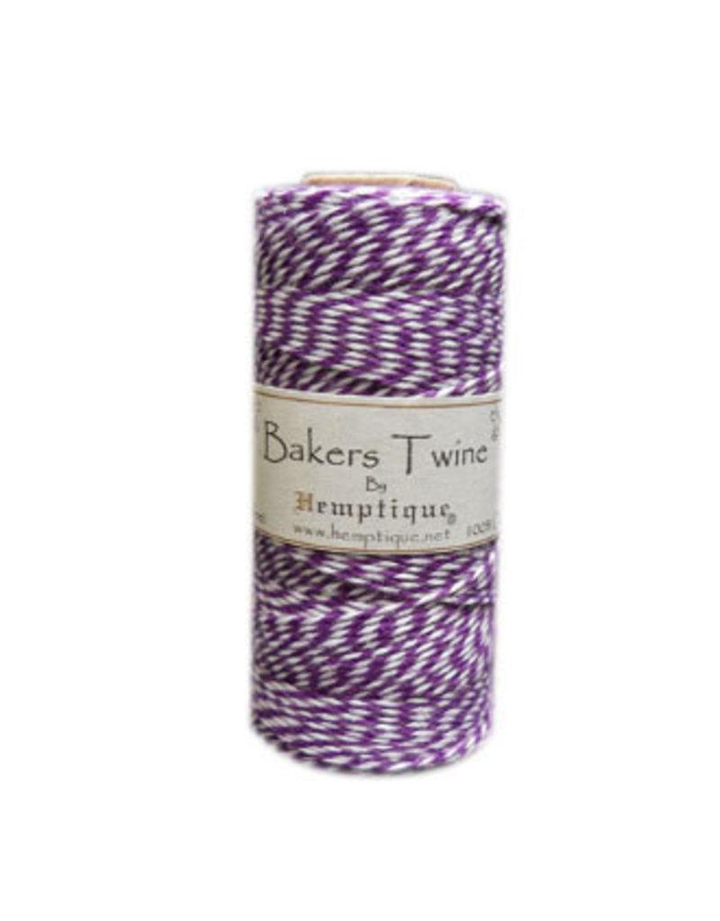 Hemptique Bakers Twine 410Ft Purple / White