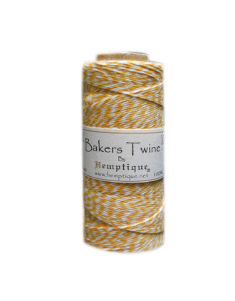 Hemptique Bakers Twine 410Ft Yellow / White