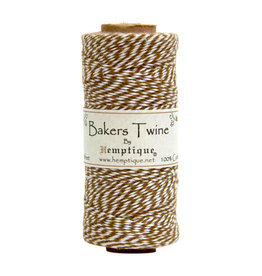 Hemptique Bakers Twine 410Ft Light Brown / White