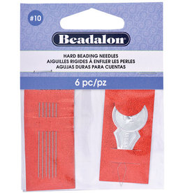Beadalon Hard Beading Needles 10 6pc