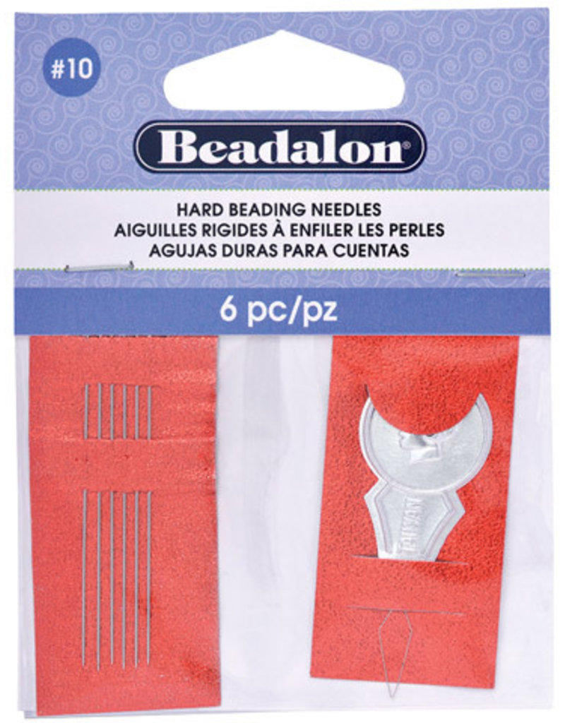 Beadalon Hard Beading Needles 10 6pc