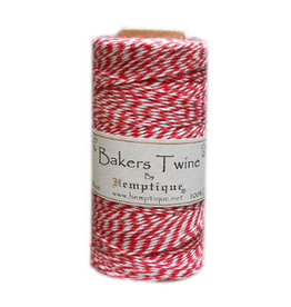 Hemptique Bakers Twine 410Ft Red / White