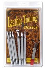 Real Leather Basic Leather Tooling Set W/Knife