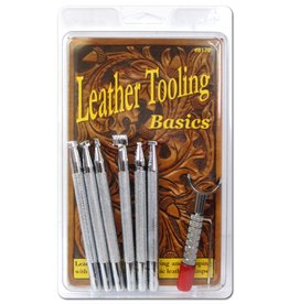 Real Leather Basic Leather Tooling Set W/Knife