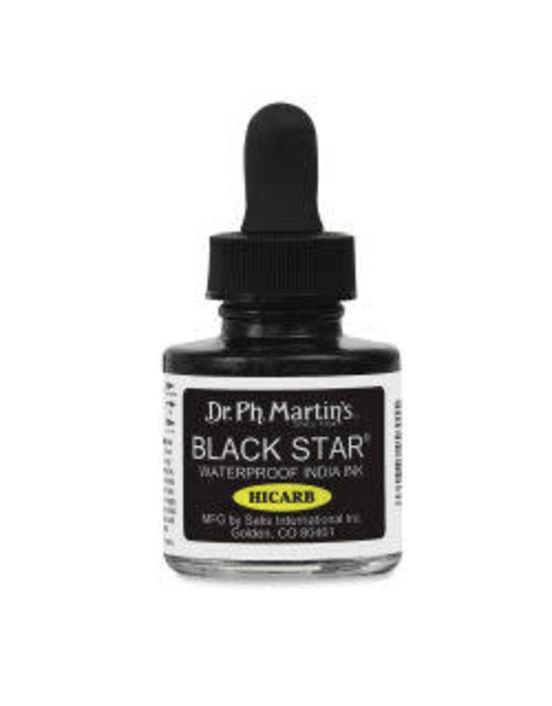 Dr. PH Martin Black Star Hi-Carb Waterproof India Ink, 1 oz.