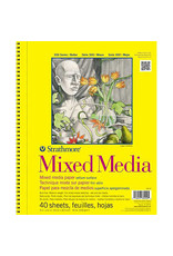 Strathmore Mixed Media Paper Pads 300 Series, 9'' x 12'' - 40/Sht. Wire Bound Pad