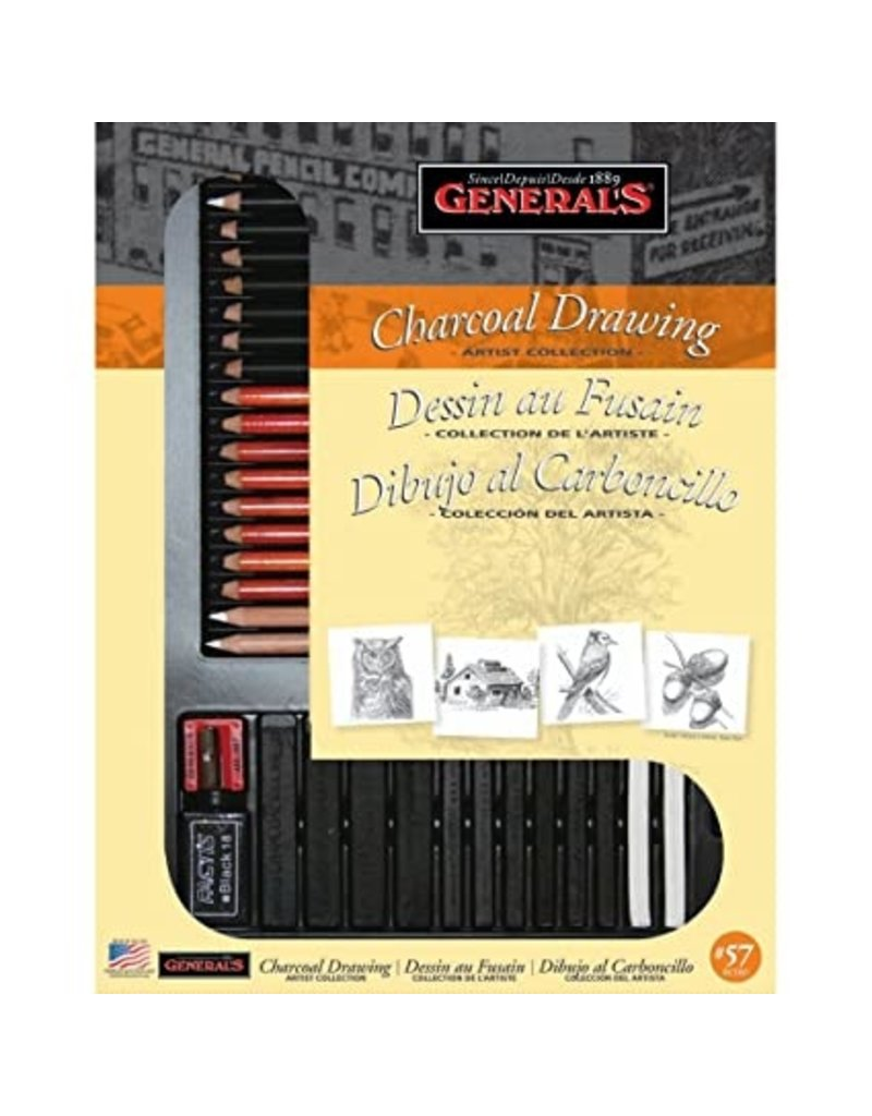 General Pencil **Clearance** Classic Charcoal Kit, 32 Pieces