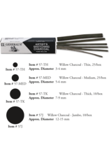 General Pencil **Clearance**  Charcoal Thin Willow 25/Bx