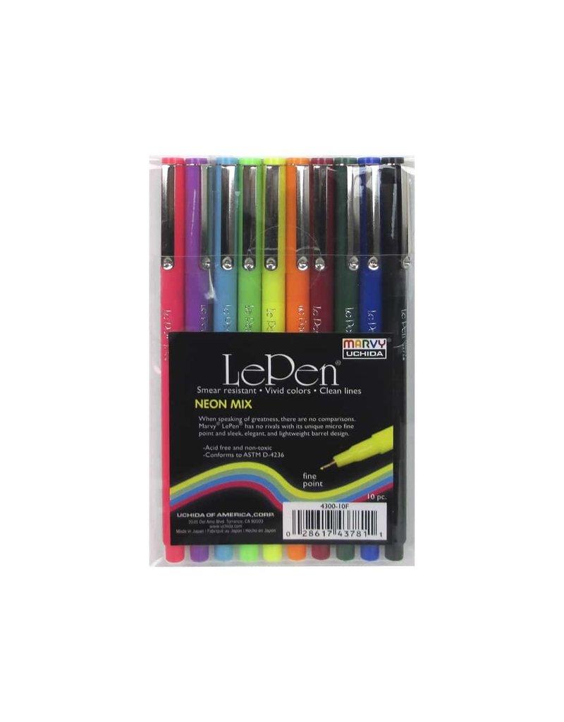 Uchida Le Pen Marker Neon 10 Piece Set