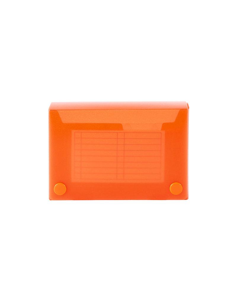 Filexec Index Card Case 5.25X3.5 Tangerine