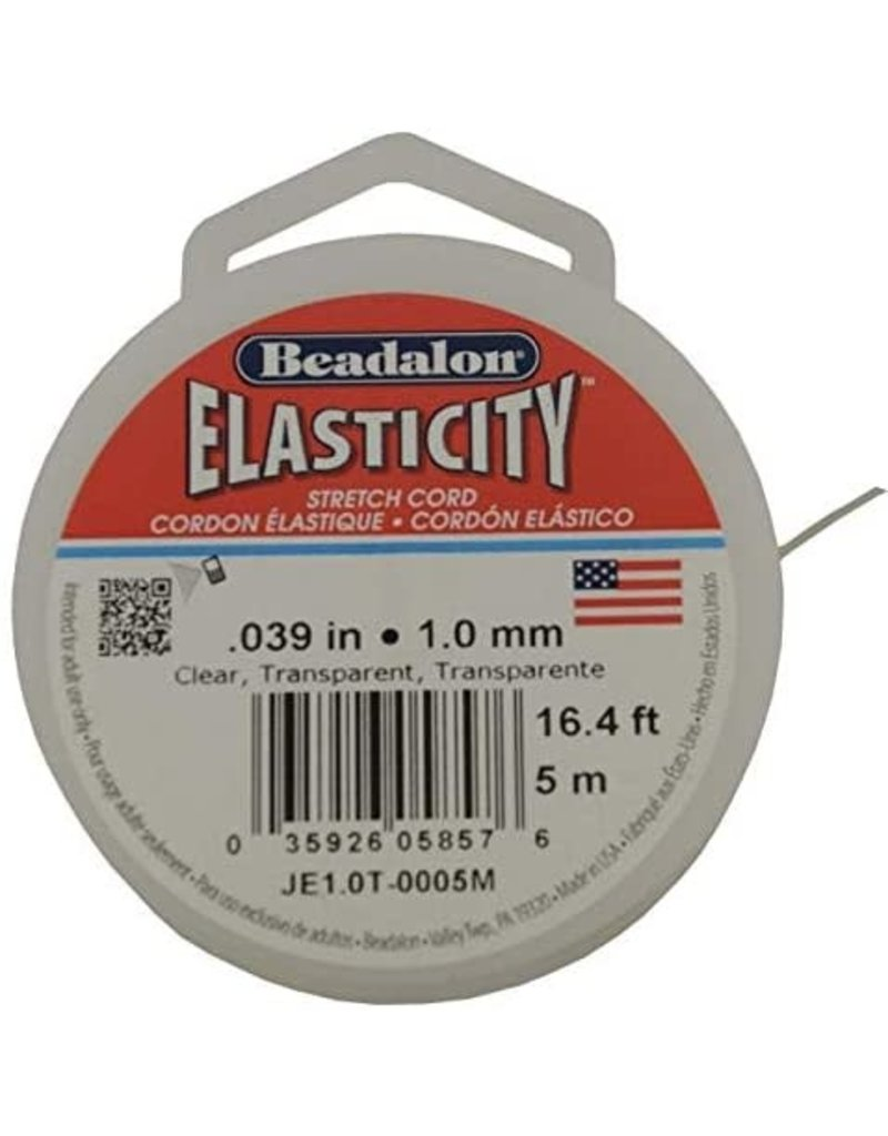 Beadalon Elasticity 1Mm Clr 16.4Ft