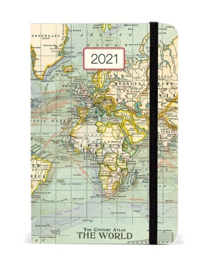 Cavallini 2021 Planner Vintage Map