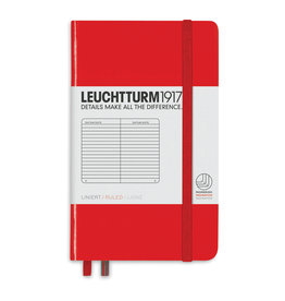 Leuchtturm *40% Off* Red, Pocket, Ruled
