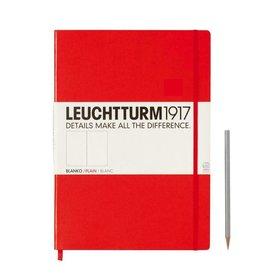 Leuchtturm *40% Off* Red, Master Classic 233 P., Plain