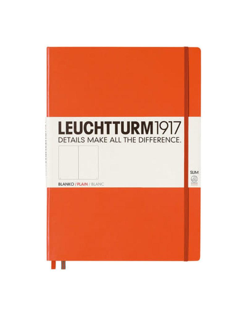 Leuchtturm *40% Off* Orange, Master Slim 121 P., Plain