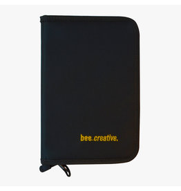 Bee Paper *40% Off* Bee Creative Zippered Black Nylon Folio Case 6.5'' X 10''