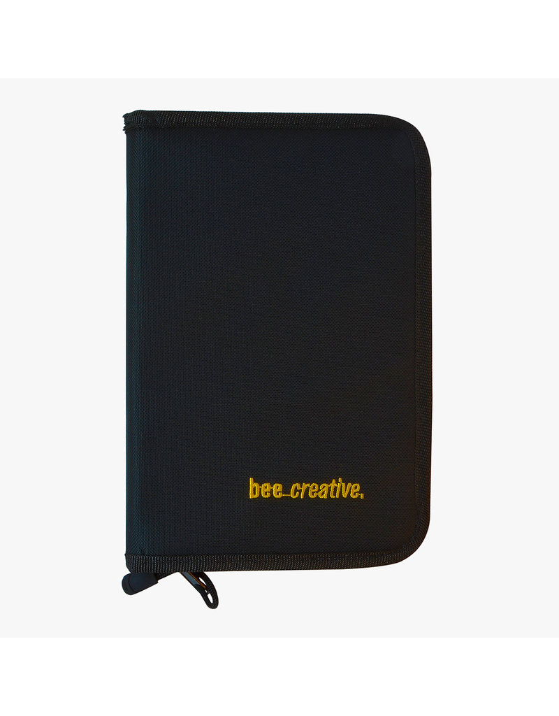 Bee Paper *40% Off* Bee Creative Zippered Black Nylon Folio Case 6.5'' X 10''