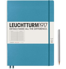 Leuchtturm *40% Off* Azure, Master Slim 121 P., Ruled