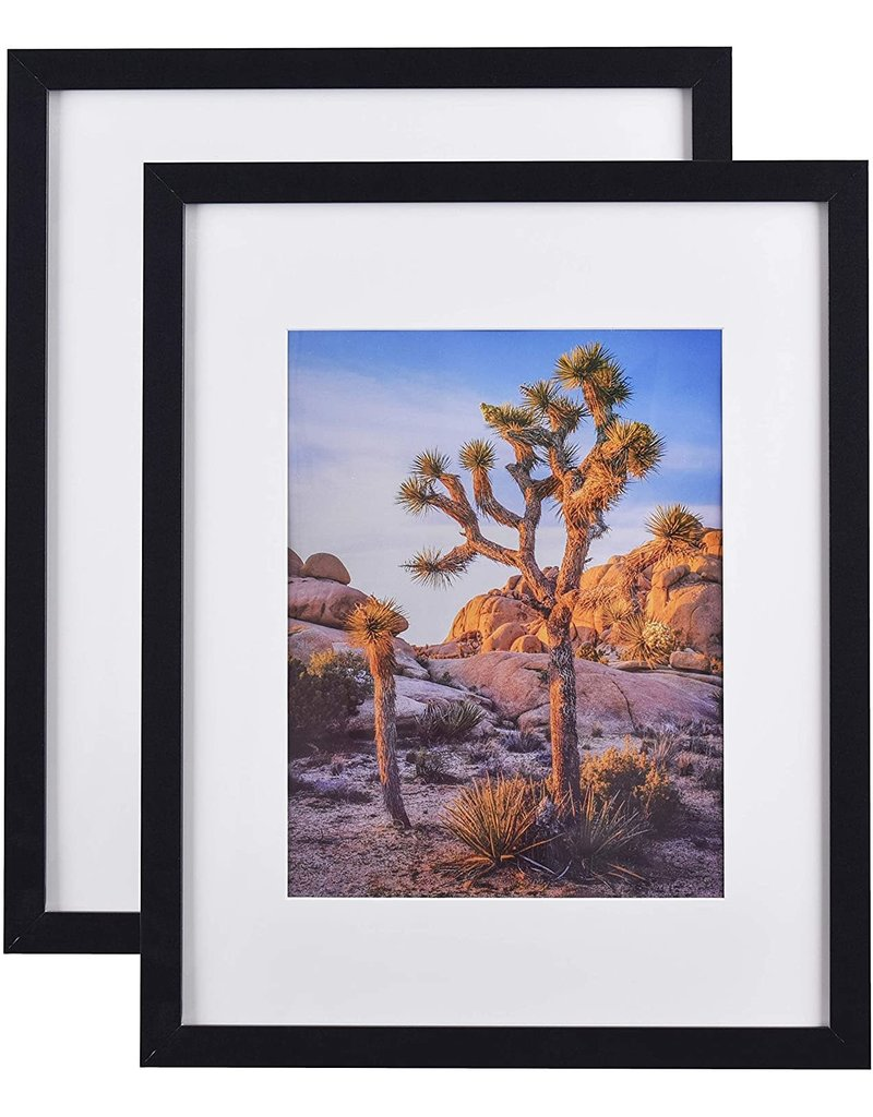 """Darice Black, Picture Frame, 11""""x14"""" Matted to 8""""x10"""""""