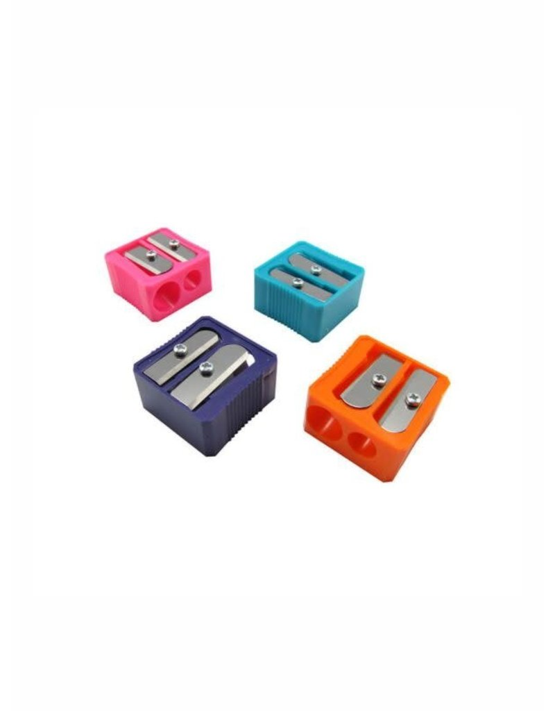 Mobius &Rubbert Block Design Pencil Sharpeners, Double-Hole