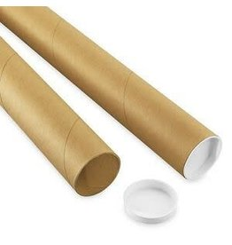 Uline 2-Piece Adjustable Kraft Mailing Tubes With End Caps - 4-42'', .18Thick