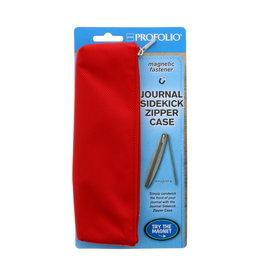 Itoya Profolio Journal Sidekick Zipper Cases, Red