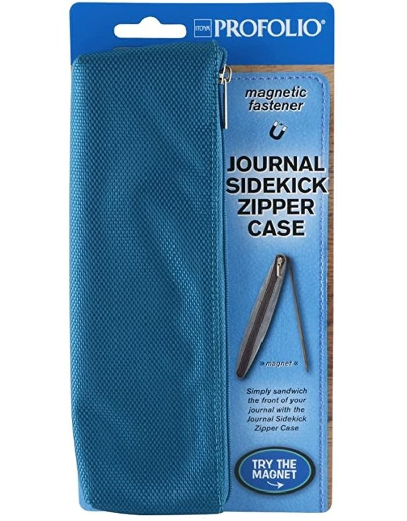 Itoya Profolio Journal Sidekick Zipper Cases, Teal