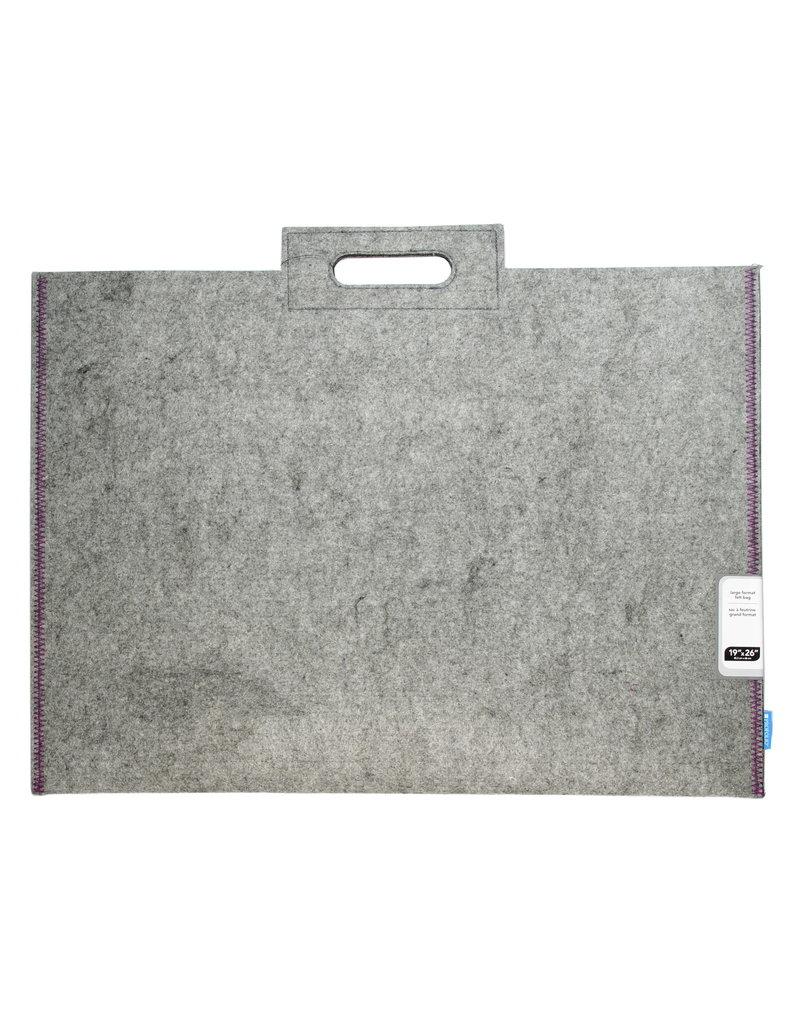 Itoya Profolio Midtown Bags, 19'' X 26'' Gray/Purple