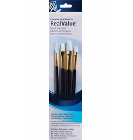 Princeton Brush White Taklon Value 4Pk 9130