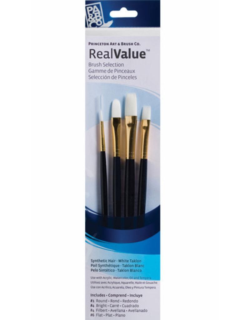Princeton Brush White Taklon Value 4Pk 9130