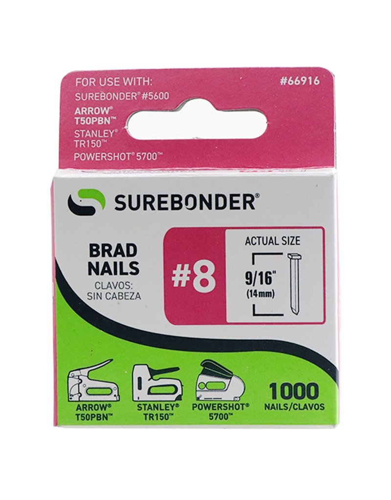 FPC Products Heavy Duty Brad Nails #8 9/16'' 1000/ Box