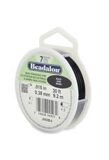 Beadalon 7 Strand Bead Stringing Wire, Black .38mm