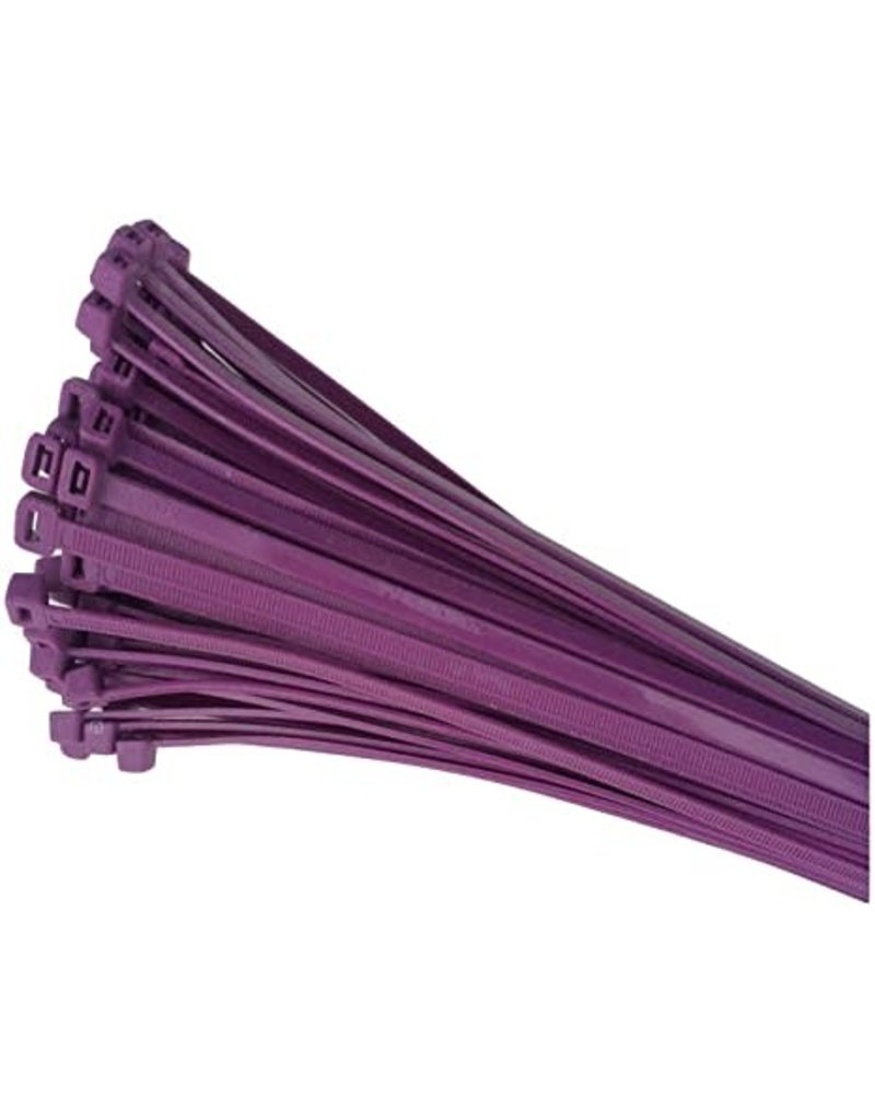 "none Zip Ties 10"" - Purple - 3 oz (approx 50 ties)"