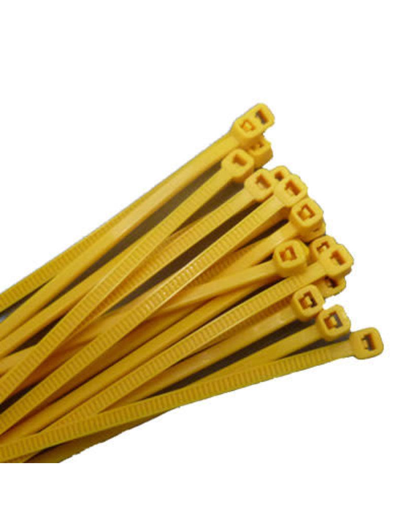 """none Zip Ties 10"""" - Yellow - 3 oz (approx 50 ties)"""