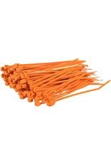 """none Zip Ties 10"""" - Orange - 3 oz (approx 50 ties)"""