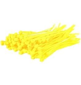 "none Zip Ties 10"" - Bright Yellow - 3 oz (approx 50 ties)"