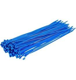 """none Zip Ties 10"""" - Blue - 3 oz (approx 50 ties)"""