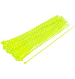 """none Zip Ties 10"""" - Neon Green- 3 oz (approx 50 ties)"""