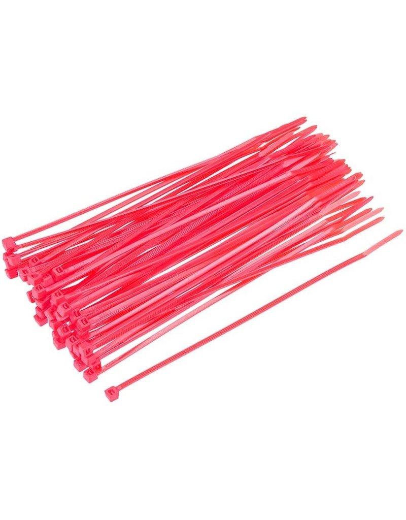 "none Zip Ties 10"" - Pink- 3 oz (approx 50 ties)"