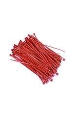 "none Zip Ties 10"" - Red - 3 oz (approx 50 ties)"