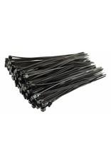 """none Zip Ties 10"""" - Black- 3 oz (approx 50 ties)"""
