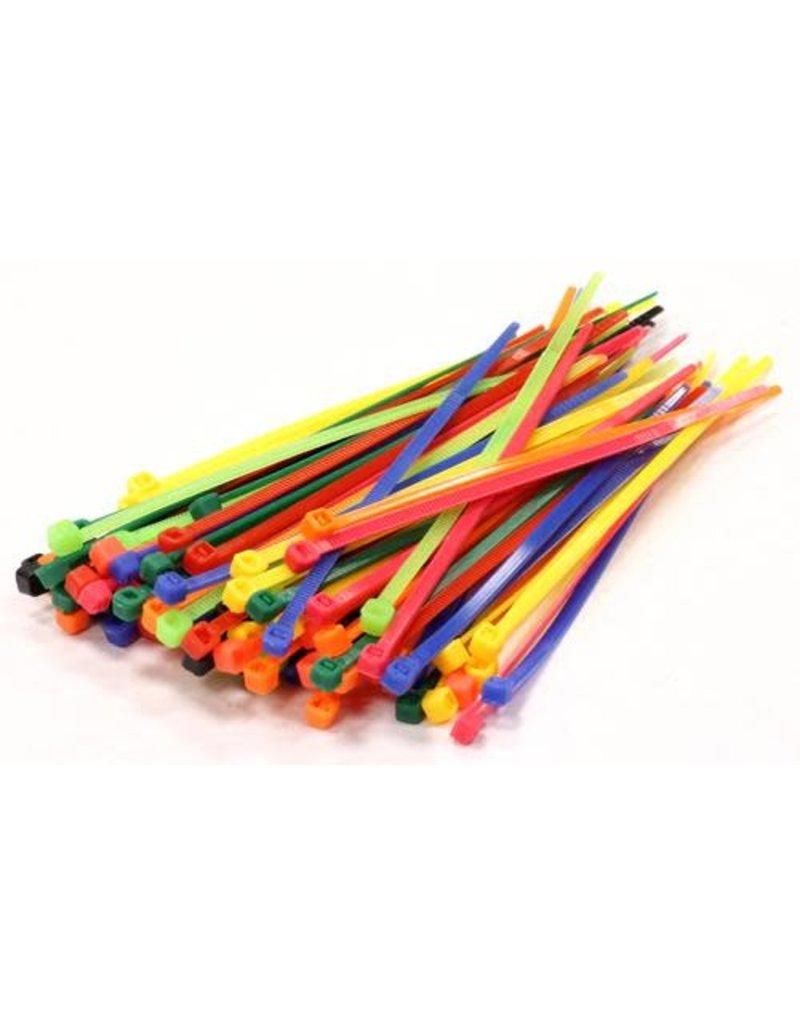 """none Zip Ties 10"""" - Assorted- 3 oz (approx 50 ties)"""