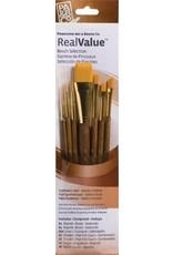 Princeton Brush Gold Taklon Value 7Pk PB9143