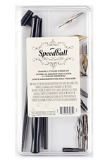 Speedball Drawing And Lettering Set, 17 Piece Dip Pen Set, Holders & Nibs