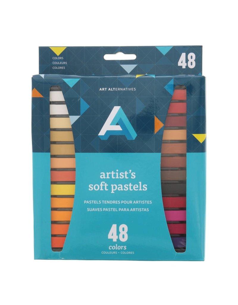 Art Alternatives Artist Soft Pastel Sets, 48-Color Set Assorted